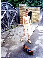 Yuko Nakazawa Asian loves her dog and wearing fancy dresses