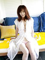 Waka Inoue Asian shows big hooters in kinkiest lingerie she has